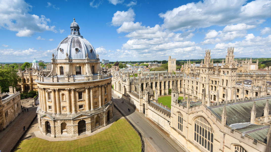 """The Radcliffe Camera and All Souls College in Oxford, UK"""